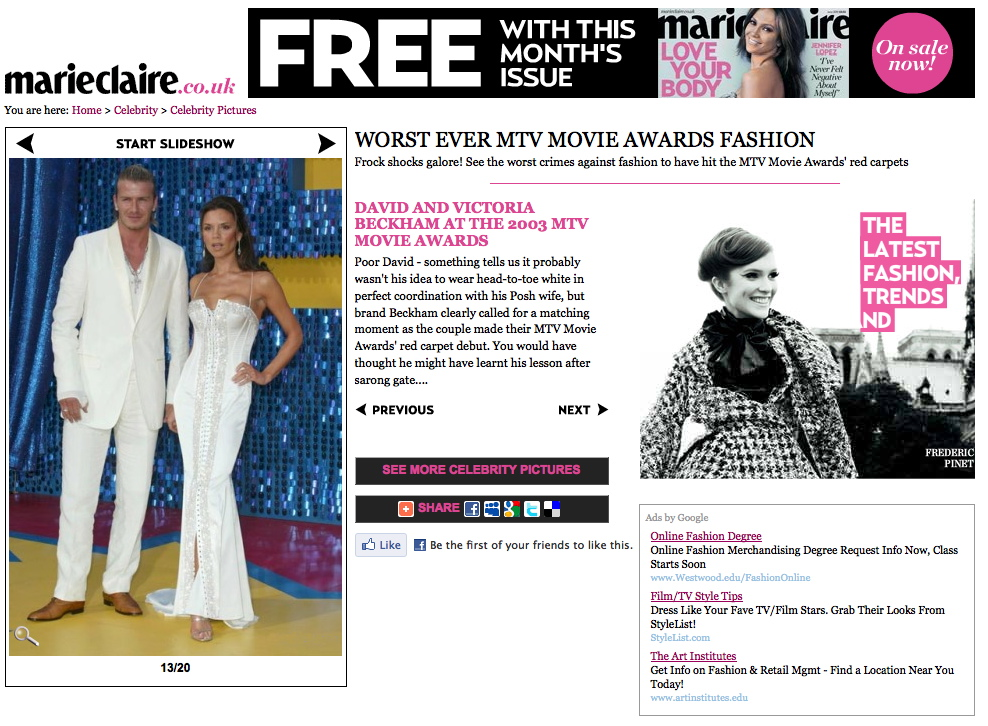 MarieClaire.co.uk-2003MTVMovieAwards_DavidBeckham_VictoriaBeckham